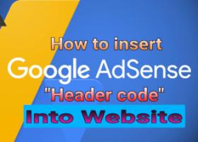 how to insert Google AdSense header code2