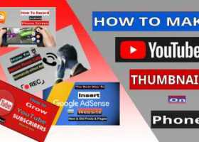 How to make YouTube Video thumbnail on Mobile phone using Photo editor app