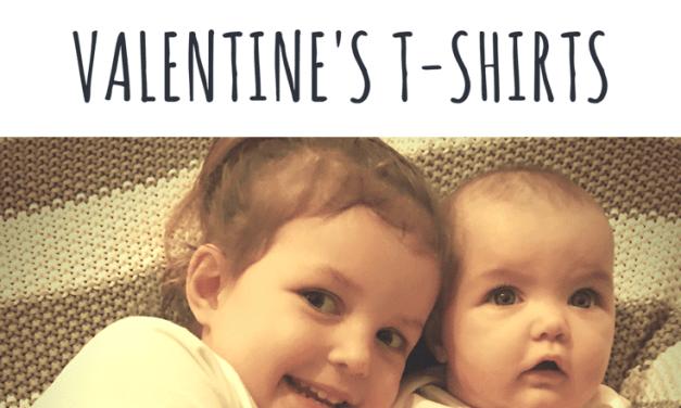 Valentine's Craft – Potato Print Heart T-Shirts