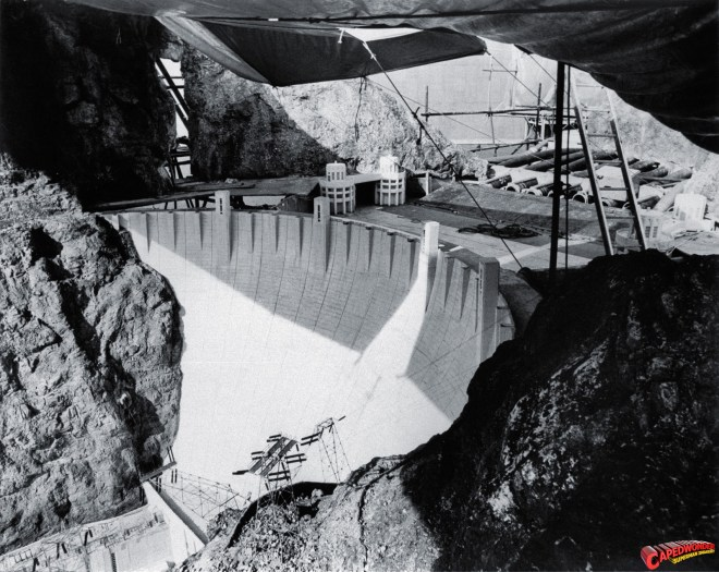 miniature of the Hoover Dam from Superman: The Movie