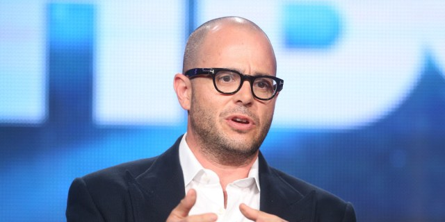 PASADENA, CA - JANUARY 09: Executive Producer/Writer Damon Lindelof speaks onstage during the 'The Leftovers' panel discussion at the HBO portion of the 2014 Winter Television Critics Association tour at the Langham Hotel on January 9, 2014 in Pasadena, California. (Photo by Frederick M. Brown/Getty Images)