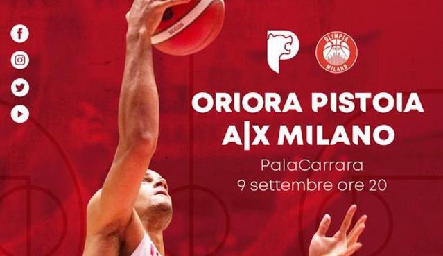 Olimpia Milano a Pistoia   Tutto su OriOra, diretta streaming e biglietteria