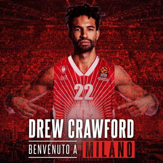 Olimpia, colpo inatteso: preso Drew Crawford per l'Eurolega