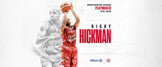 L'ex Ricky Hickman firma con Allianz Trieste