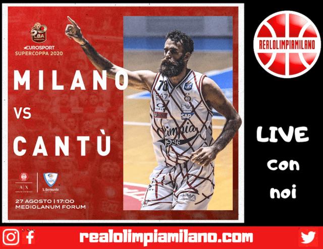 Olimpia Milano vs Cantù LIVE
