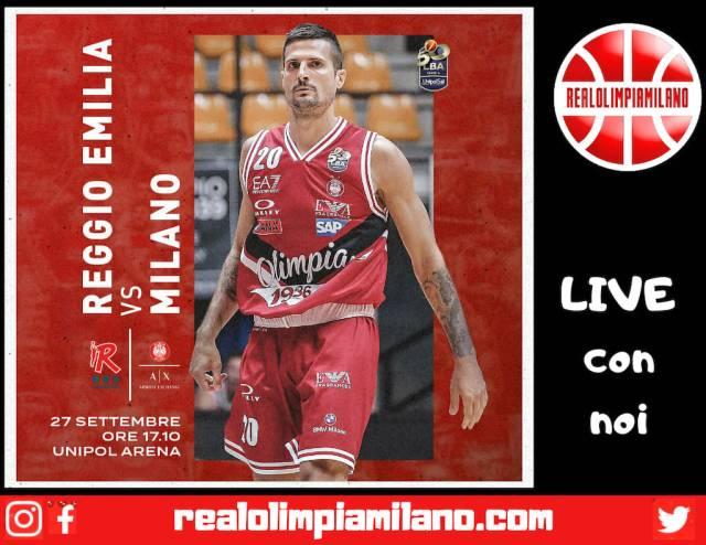 Reggiana vs Olimpia Milano LIVE