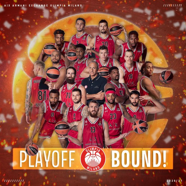 Olimpia Milano ai playoff di EuroLeague dopo 7 anni. La celebrazione