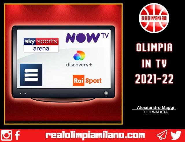 Dove vedere Olimpia Milano in TV