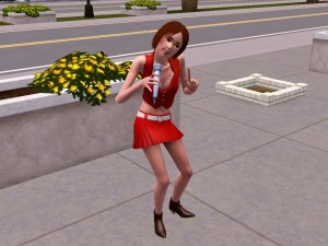 Meiko outfit on singing singer