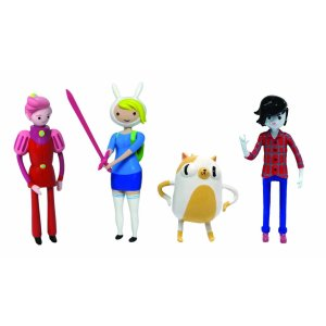 Fiona, Cake, Marshall Lee, and Prince Gumball figures