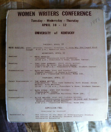 Program for 1979 Women Writers Conference