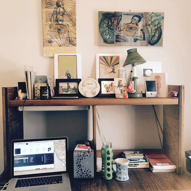 desk of Emilia Phillips