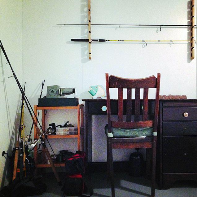 A photograph of writer Cameron Pierce's desk