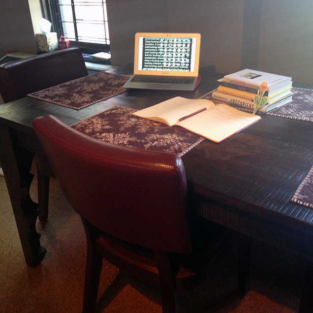 A photograph of Carley Moore's desk