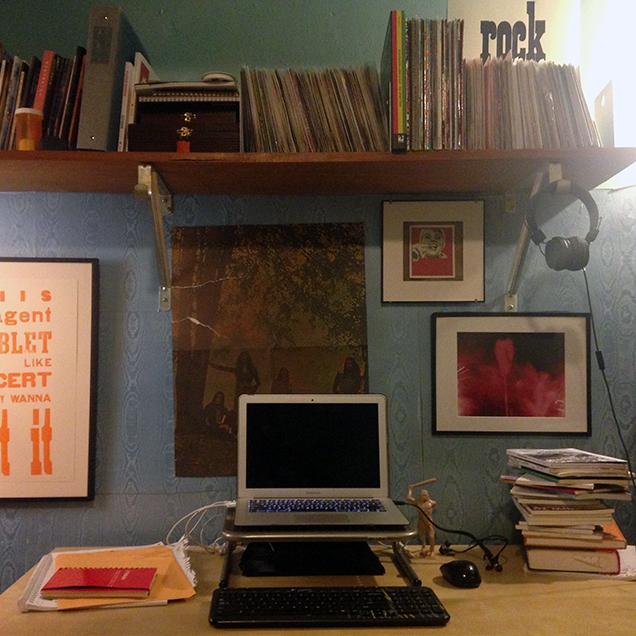 The desk of Patrick Williams