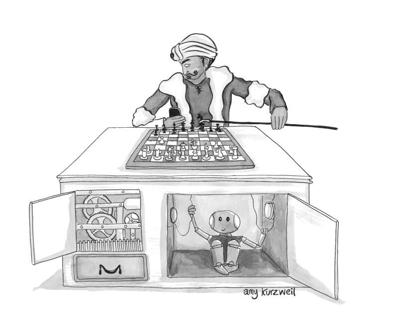 Cartoon by Amy Kurzweil.