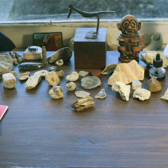 A photograph of the desk of Lesser Gonzalez