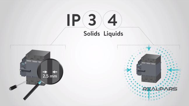 مثال عن جهاز بتصنيف IP34.