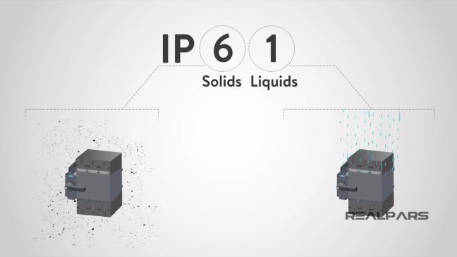 مثال عن التصنيف IP61.