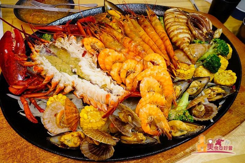 【高雄牛排館】澎湃豪華超大雙人海鮮鐵板料理 饗吃牛海鮮牛排館