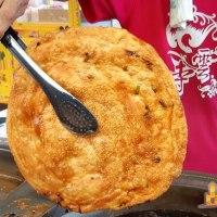 【高雄小吃】北平李老爹脆皮蔥油餅(創始店) 比臉還大有嚼勁的脆皮蔥油餅
