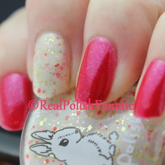 Ninja Polish - Handful of Shimmer & Hare Polish - Let Them Eat...What?