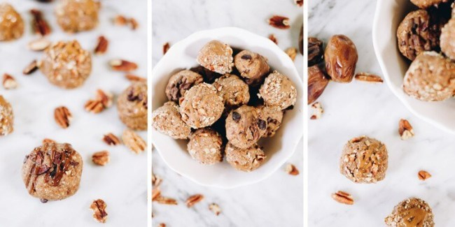 What's better than a tasty little bite? Well, a tasty bite that is super simple to make and only has 5 ingredients! You will recognize and probably have on hand all 5 of the ingredients for these Pecan Date Energy Bites if you have a pretty well stocked Paleo pantry! #paleo #glutenfree #dairyfree #snackattack | realsimplegood.com