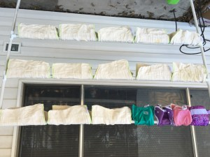 sun-drying diapers is a thing of beauty
