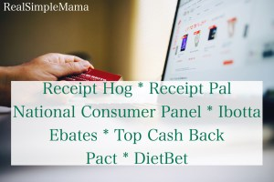 Money-Making Apps: Receipt Pal, Receipt Hog, Ibotta, NCP, Ebates, Top Cash Back, Pact, Diet Bet - Real Simple Mama