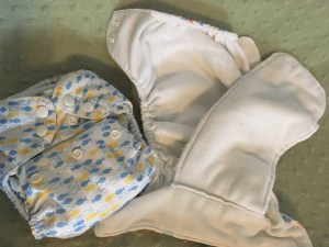 Thirsties AIO cloth diaper fluff - Real Simple Mama Review: AIO All-in-One Cloth Diaper Comparison! - Real Simple Mama