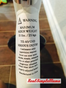 What Is a Balance Bike? - Real Simple Mama warning label bicycle