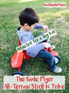 Review: Radio Flyer Trike and Scooter - Real Simple Mama image big kid adjust fit stage image title