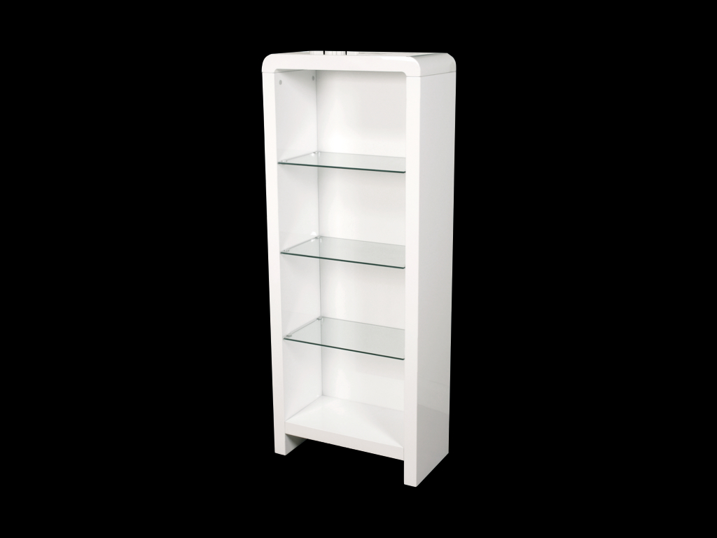 Atlantis Clarus White High Gloss Bookcase