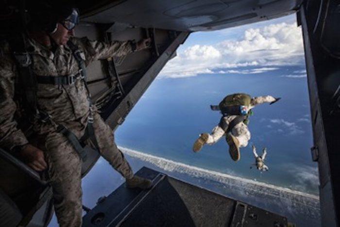 vets parachuting cbd