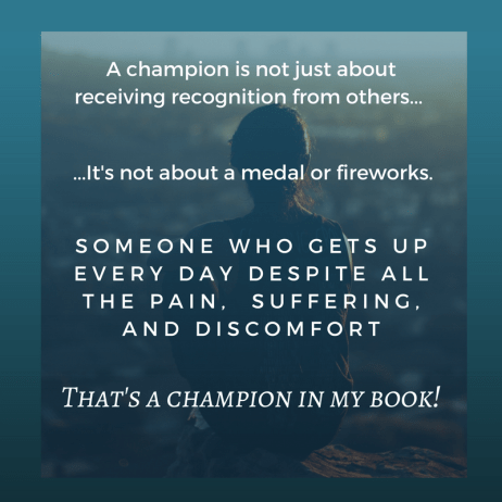 A champion coping with disability