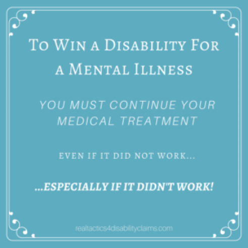 To Win a Disability For a Mental Illness
