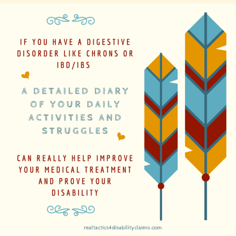 Digestive disorders disability diary