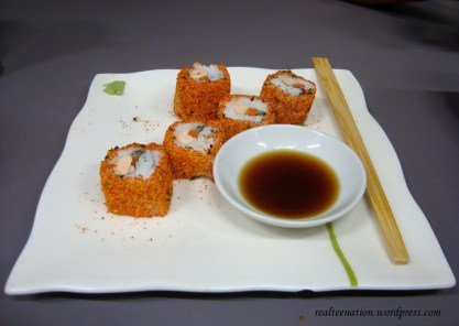 Spicy Grill Salmon Sushi