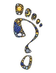 Footprint Questionmark