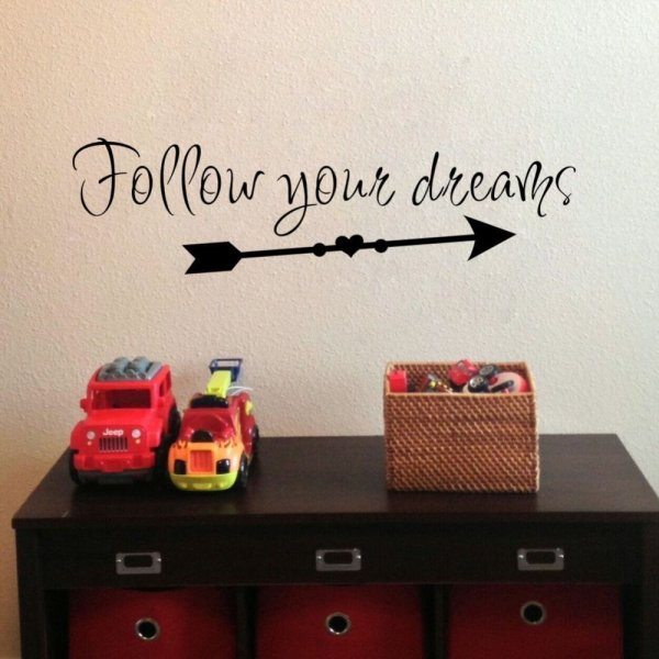 Follow Your Dreams Wall Sticker 1