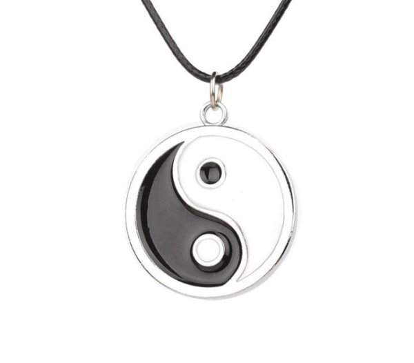 Simple Style Ying Yang Necklace 1
