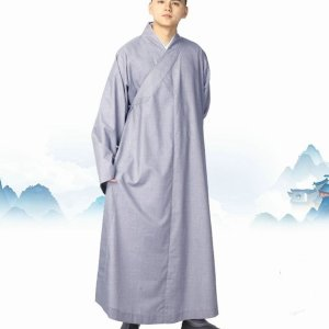Men's Microfiber and Cotton Buddhist Robe 8