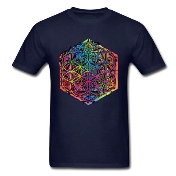 Men's Rainbow Mandala T-Shirt 4