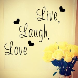 Live Laugh Love Wall Sticker 12