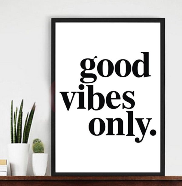 Laconic Style Good Vibes Poster 1