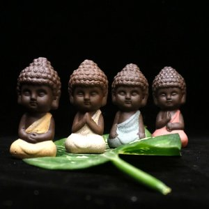 Litttle Buddha Ceramic Figurine 11