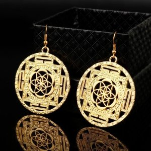 Women's Flower of Life Drop Earrings 2