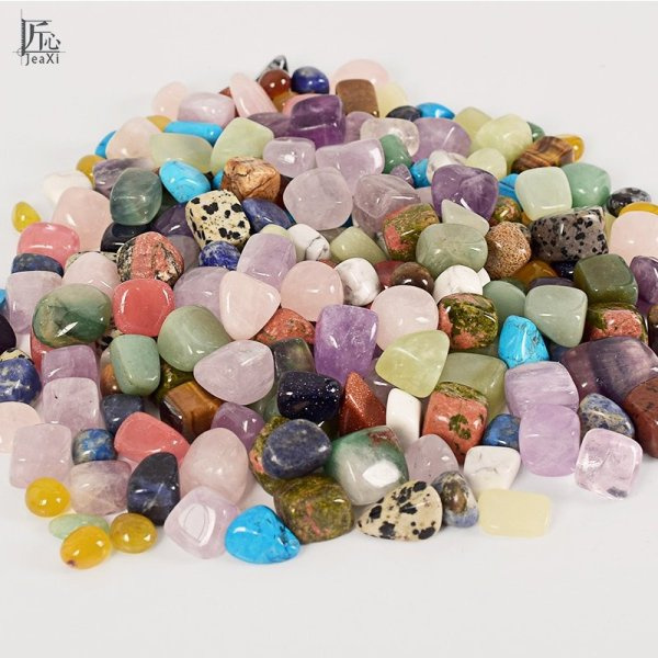 Assorted Tumbled Chips Stone Crushed Crystal Quartz Pieces Irregular Shaped Stones 1