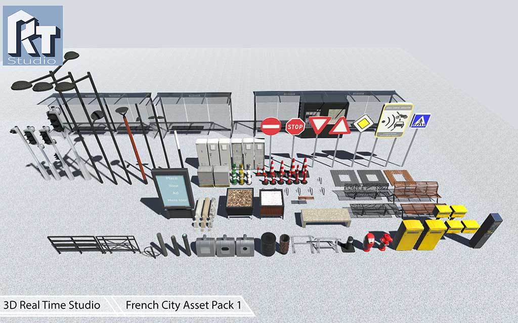 French City Assets Pack 1 for Unity 3D