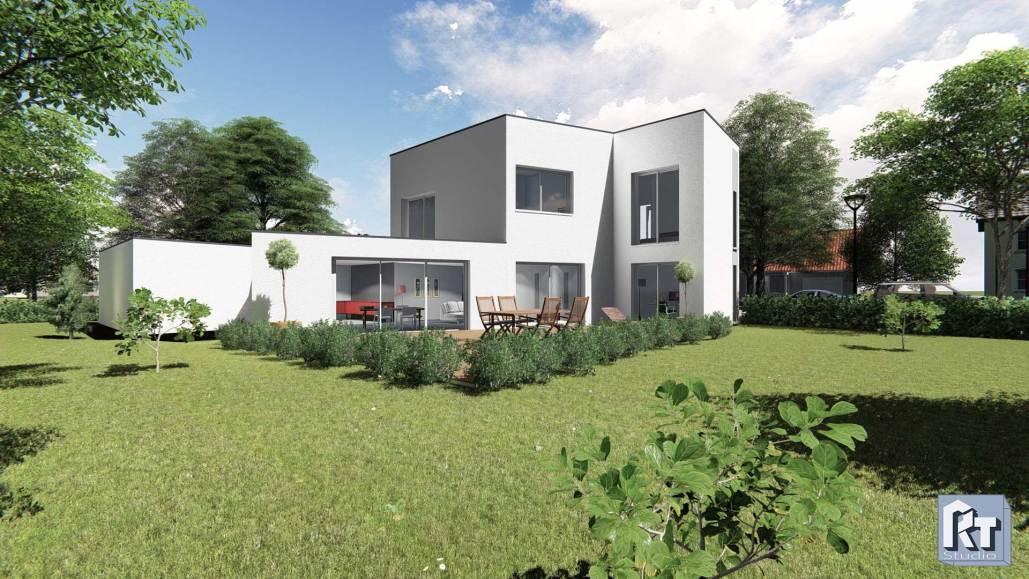 image 3d de maison individuelle à Angers